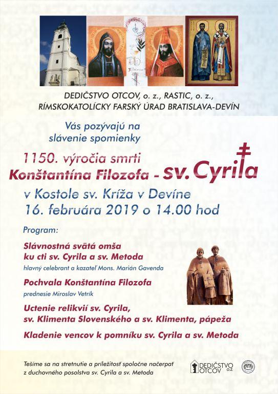 c22aa267f 14. februára bude celý svet upierať zrak na Večné Mesto do Baziliky San  Clemente, kde sa každoročne koná púť k sv. Cyrilovi a sv. Metodovi.
