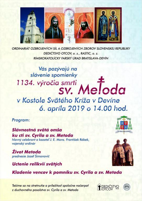6eaed0e97 Blíži sa 1134. výročie úmrtia sv. Metoda. - Slovenský dom CENTROPE
